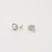 耳環 925純銀 鑲鑽-優美珍珠生日情人節禮物女飾品2色73hz52[時尚巴黎]