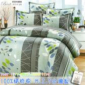 鋪棉床包 100%精梳棉 全舖棉床包兩用被三件組 單人3.5*6.2尺 Best寢飾 6975-1