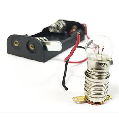 MIN SHIN 旻新 燈泡+燈座+附線電池座組 NO.818