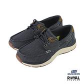 Skechers Sentimal 藍色 帆布 套入 運動休閒鞋 男款 NO.B0891【新竹皇家 66191NVY】