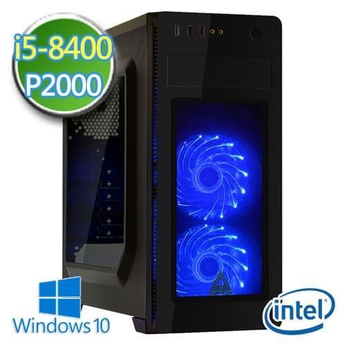 技嘉B360平台【闇櫻畫師】i5六核 P2000-5G繪圖獨顯 SSD 240G效能電腦
