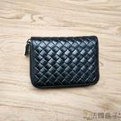 風琴夾-法國盒子.極簡個性編織風琴卡夾(黑色)L033#