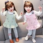 快速出貨 女童套裝女童套裝洋氣1嬰兒童2女寶寶3歲小童衣服
