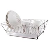 廚房碗筷瀝水架臺面碗碟置物架果蔬瀝水籃子不銹鋼洗菜濾水收納筐