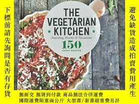 二手書博民逛書店THE罕見VEGETARIAN KITCHEN:Nourishi