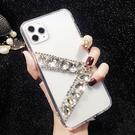 IPhone12 Pro Max 12mini iPhone11 SE2 XS Max IX XR i8 i7 Plus i6S 蘋果手機殼 水鑽殼 客製 手做 寶石v帶