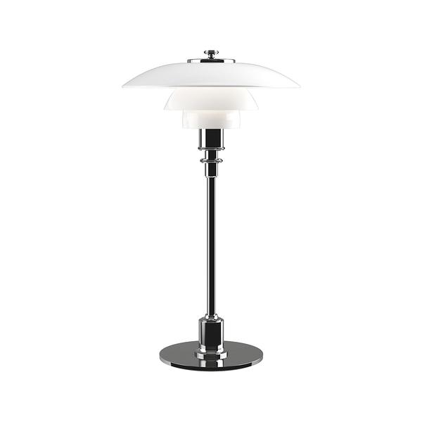 Louis Poulsen PH 2/1 Glass Table Lamp 20cm 保羅漢寧森系列 玻璃貝殼 三層次 桌燈(銀色鍍鉻燈身)
