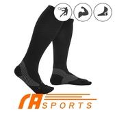 瑪榭 FootSpa-阿基里斯壓力運動長襪-黑 MS-21591-1