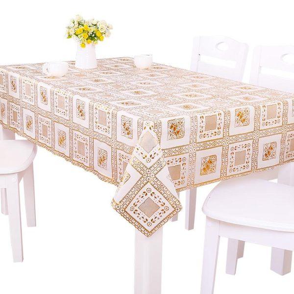 PVC田園桌布布藝歐式茶幾墊餐桌布免洗軟質玻璃【快速出貨八折優惠】