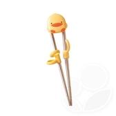 Piyo 黃色小鴨 造型不鏽鋼學習筷【佳兒園婦幼館】