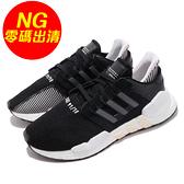 【US6-NG出清】adidas 復古慢跑鞋 EQT Equipment Support 91/18 W 黑 白 運動鞋 鞋帶破損 女鞋【ACS】
