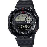 【CASIO 卡西歐】SPORTS GEAR 戶外運動錶-黑 SGW-600H-1BDR