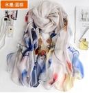 絲巾女夏季薄款中年雪紡