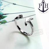 PH PAUL HEWITT / PH-FR-ARI-S / 德國品牌船錨C字不鏽鋼戒指 銀色 50.52.54.56.58mm
