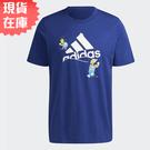 【現貨】Adidas x THE SIMPSONS 男裝 短袖 辛普森家庭 雪球 純棉 寶藍【運動世界】HA7704