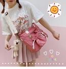 【免運】側背包 書包 日系斜背包 單肩包 手提袋 大容量托特包 補課包 學生帆布包 補習袋 購物袋