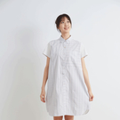 8happy // 日系文青條紋長版襯衫