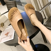 娃娃鞋 淺口鞋女春季2021新款百搭復古鞋軟底森女娃娃鞋兩穿單鞋 小衣里大購物