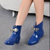 【99免運】雨鞋女短筒夏季防滑韓版時尚甜美雨靴蝴蝶結低筒淺口水靴套鞋雨靴