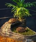 烏龜曬背台爬台浮島水龜缸造景曬背台爬梯巴...