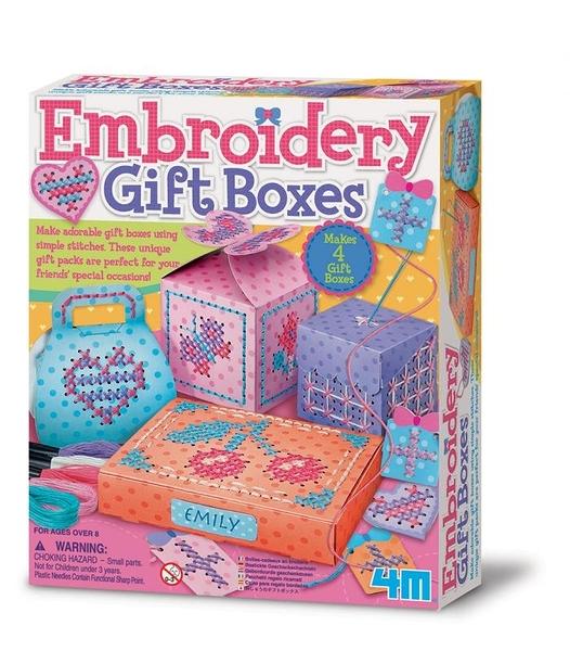【4M】美勞創作系列 - 刺繡禮物盒 Embroidery Gift Boxes 00-04666
