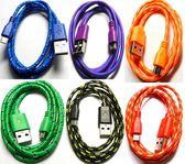 [富廉網]  UB-366 USB2.0 A公-Micro B公棉質線 1米