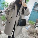 毛呢外套  新款韓版女裝毛呢外套修身顯瘦...