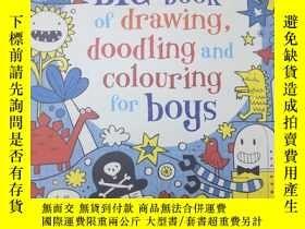 二手書博民逛書店BlG罕見book of drawing,doodling and coloUring for boys 大書關於