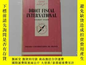 二手書博民逛書店法文原版罕見DROIT FISCAL INTERNATIONAL
