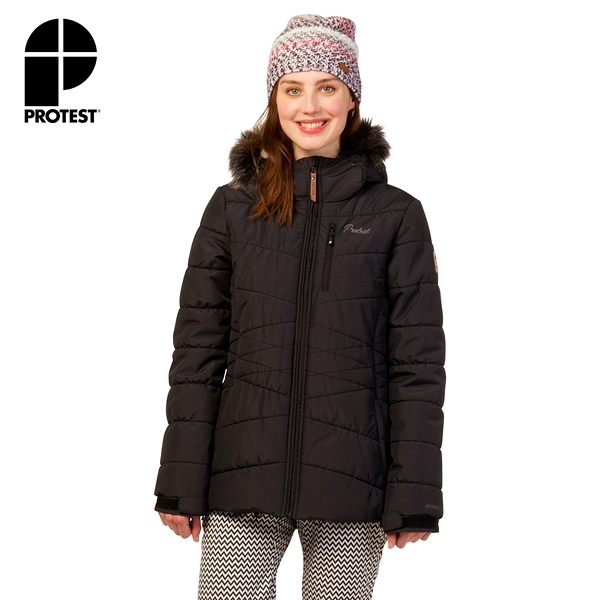 PROTEST 女 機能防水保暖外套 (真實黑) VALDEZ SNOWJACKET