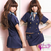 角色扮演【Ayoka】愛戀航班!氣質三件式空姐服 情趣用品 女用商品 情人節性感睡衣