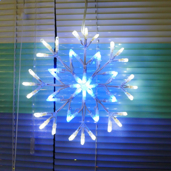 聖誕燈裝飾燈LED燈四雪花片造型燈(192燈/藍白光)(附控制器跳機)