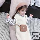 女童套裝兒童毛衣背心裙 波點襯衫兩件套寶寶【左岸男裝】