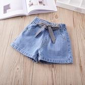 新款2020女童韓版純色繫帶牛仔短褲兒童百搭休閒熱褲寶寶褲子寶寶 雙11提前購