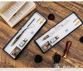 歐式復古蘸水筆 玻璃筆鋼筆 花體字體練字鋼筆套裝 優家小鋪