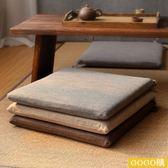 可拆洗簡約亞麻椅墊坐墊加厚防滑榻榻米軟墊透氣