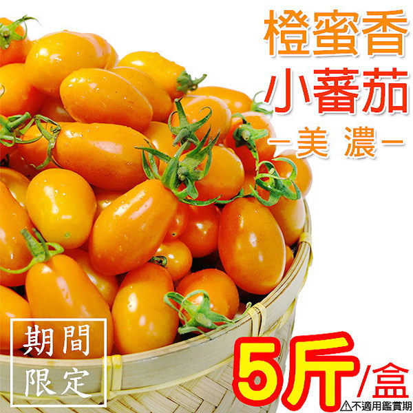 橙蜜香小蕃茄 5斤X1盒(含箱重) 高雄美濃 超人氣特產 箱購免運