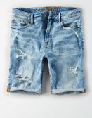 (BJGO) AMERICAN EAGLE_AE CUTOFF DENIM SHORT 美國舒適刷破牛仔短褲