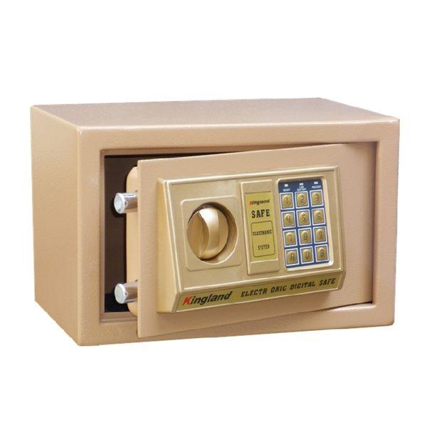 小型家用床頭入牆辦公電子密碼防盜全鋼20保險箱隱身保管箱保險櫃NMS 小明同學