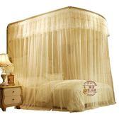 新款蚊帳雙人家用公主風U型伸縮支架雙人宮廷公主風蚊帳6*6尺·樂享生活館liv