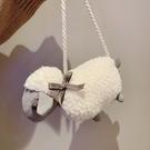 可愛小羊毛毛包包女包洋氣百搭卡通毛絨斜挎小包【小獅子】