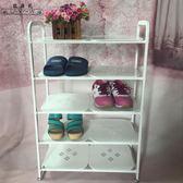 簡易鞋架多層鐵藝防塵金屬收納簡約現代家用SMY4527【123休閒館】