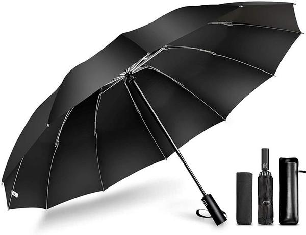 【日本代購】2020最新 12根傘骨反折式 折疊傘一鍵自動開合 108釐米 大尺寸Teflon加工 防水防紫外線