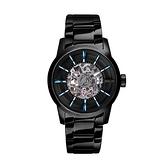 【Relax Time】簡約時尚鏤空機械腕錶-點綴藍/RT-38J-5/台灣總代理公司貨享一年保固