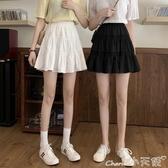 休閒短裙高腰半身裙女夏季2020年新款夏天短款裙子百搭A字裙學生白色短裙 小天使