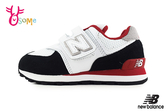 New Balance 574 LIFESTYLE 中大童 運動鞋 寬楦 輕量慢跑鞋 O8519#黑紅◆OSOME奧森鞋業