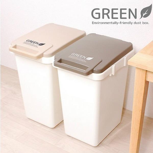 【南紡購物中心】日本 eco container style 連結式 環保垃圾桶 大地系 45L - 共兩色
