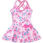 兒童泳衣女童韓版連體公主裙式寶寶可愛游泳衣女孩泡溫泉泳裝