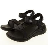 SKECHERS GO WALK ARCH FIT SANDAL 女款黑色休閒涼拖鞋-NO.140251BBK
