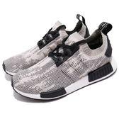 adidas NMD_R1 PK 米白 黑 編織 Primeknit 鞋面 boost 襪套式 運動鞋 男鞋【PUMP306】 AQ0899